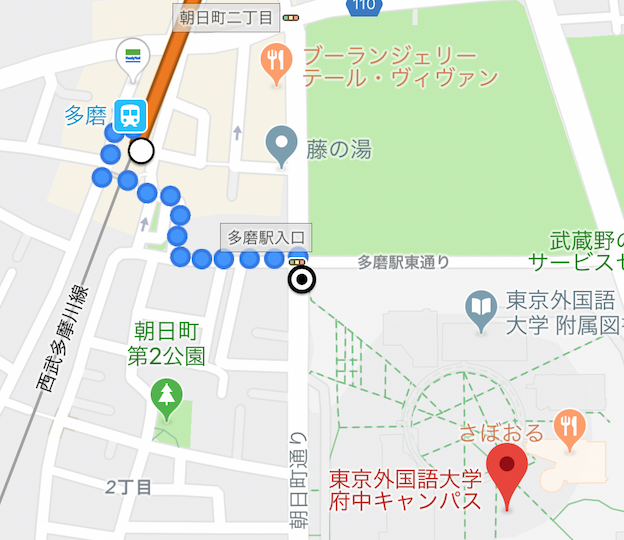 TOPIK韓国語能力試験_多磨駅と東京外国語大学府中キャンパス